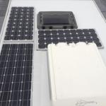 RV roof solar panels