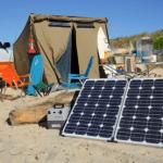 Caravan with Solar Panels